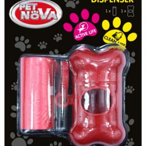 PET NOVA Higieniniai Maišeliai Su Raudonu Dėklu