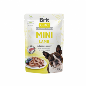 Brit Care Mini kons. šunims maišeliuose Lamb fillets in gravy 85g
