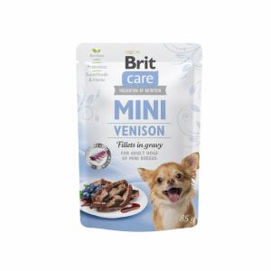Brit Care Mini kons. šunims maišeliuose Venison fillets in gravy 85g