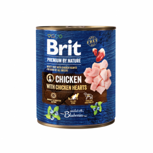 Brit Premium by Nature kons. šunims Chicken with Hearts 800g