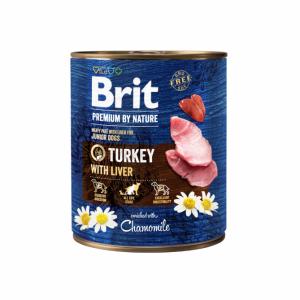 Brit Premium by Nature kons. šunims Turkey with Liver 800g